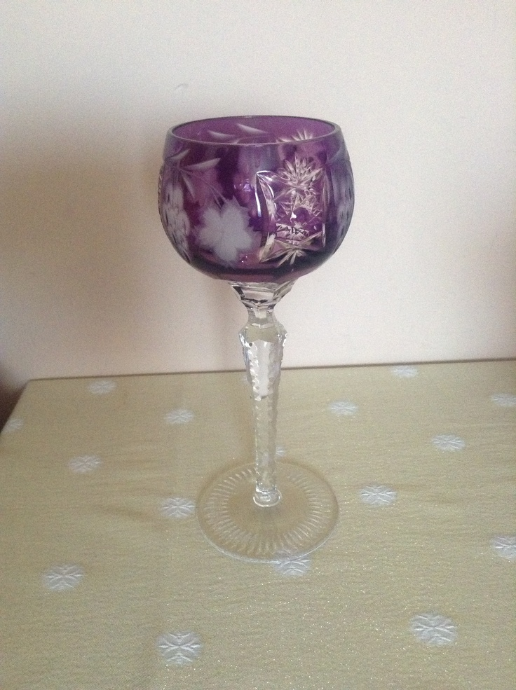 Marsala Hock Wine Glass by Magda Németh
