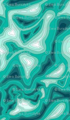 ocean depth map fabric