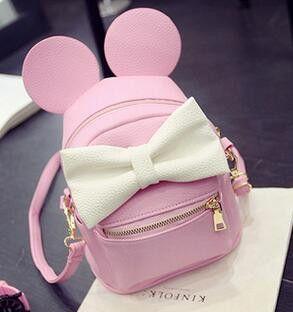 Disney Minnie Mickey Mouse Mochila rosada