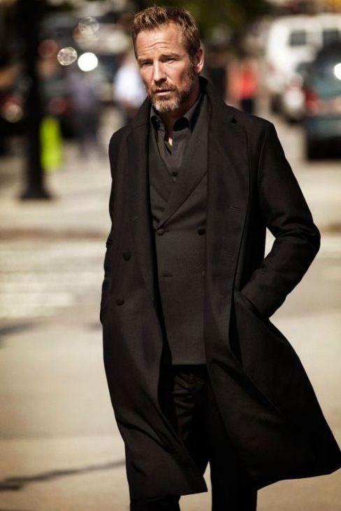 beardbrand: Rainer Andreesen via preludetoreality all Black suit up old men chique