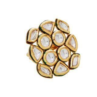Square kundan ring