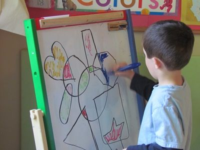 Teach Preschool : Exploring shapes and oil