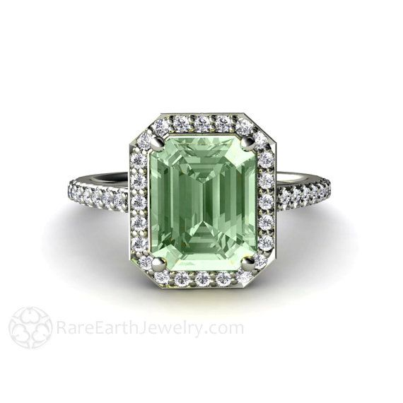 Hey, I found this really awesome Etsy listing at https://www.etsy.com/uk/listing/158469235/green-amethyst-engagement-ring-diamond