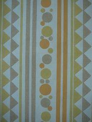 oranje geel beige bolletjes driehoeken en lijnen