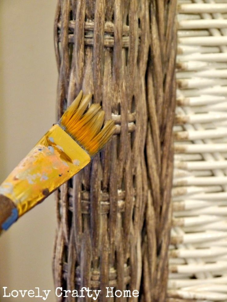 diy gray washed wicker.  This might be useful one day.