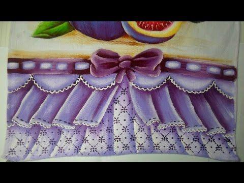 Barrado falso com pintura em tecido - YouTube