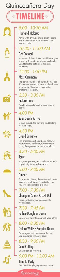 The complete guide to your quinceanera day guideline | Quinceanera Day Timeline | Quinceanera Planning | Quinceanera Ideas |