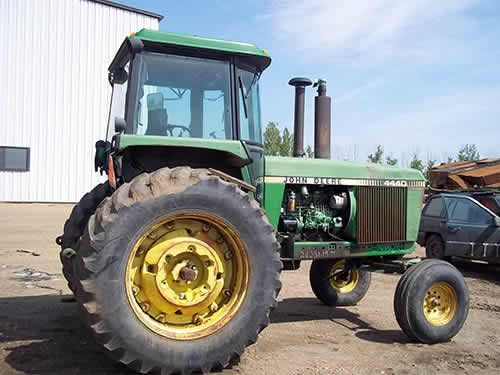 John Deere 4440 tractor salvaged for used parts. This unit is available at All States Ag Parts in Salem, SD. Call 877-530-4010 parts. Unit ID#: EQ-24231. The photo depicts the equipment in the condition it arrived at our salvage yard. Parts shown may or may not still be available. http://www.TractorPartsASAP.com