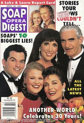 Another World Soap Opera | Soap Opera Digest April 26 1994...Cover was ... | Another World My Fa ...