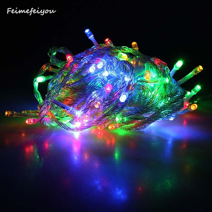 Multi-Color Colorful Linkable Led String Lights For Holiday Christmas Party Decoration (10M, 100LED) - фото 4