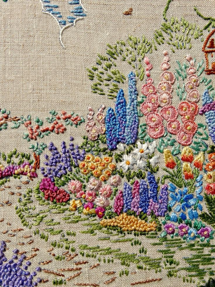 A Saucy Stitch: A Vintage Embroidered Garden                                                                                                                                                                                 More