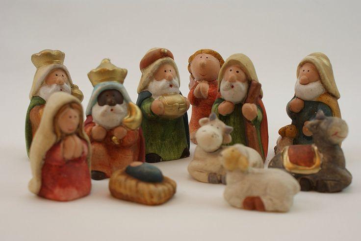 be4To Figuras de cerámica para portal de Belén, 11 piezas, pintadas a mano: Amazon.es: Hogar
