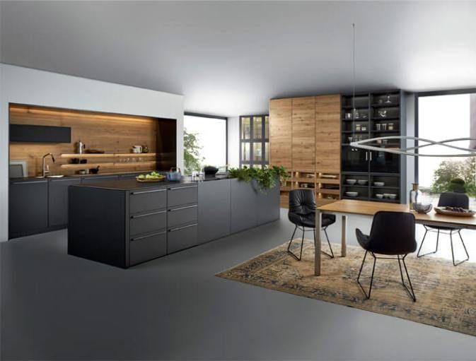 14 best Küchen im Industrialstil images on Pinterest Kitchen - sockelleisten für küchen