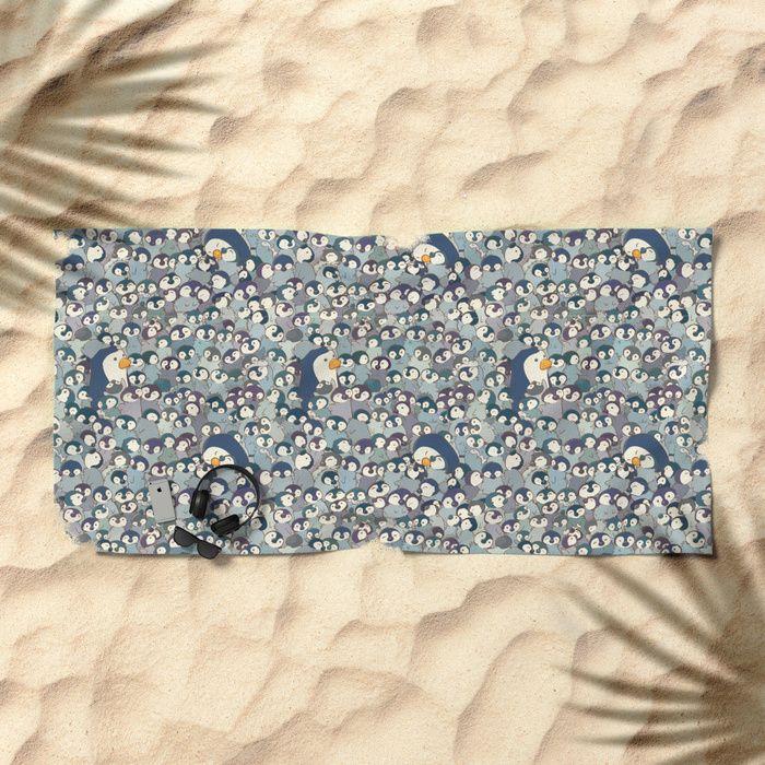 Baby Penguin Pattern Beach Towel