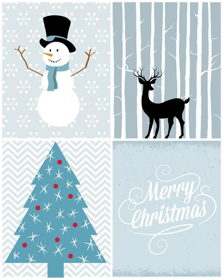 Christmas Printables in Blue - Refresh Restyle