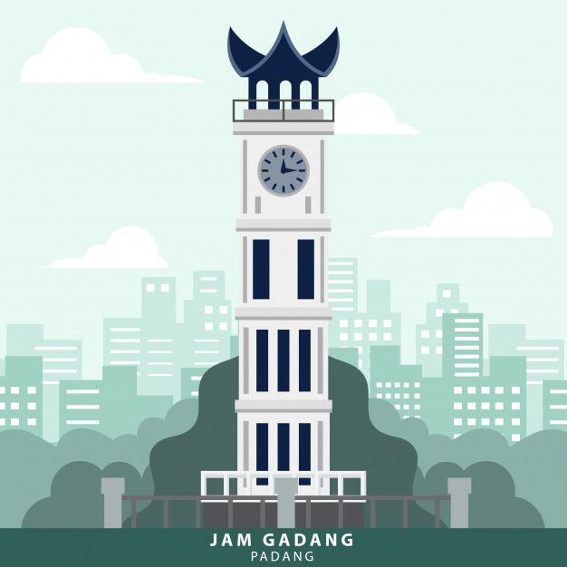 indonesia padang jam gadang landmark in 2020 padang minangkabau travel wall art indonesia padang jam gadang landmark in