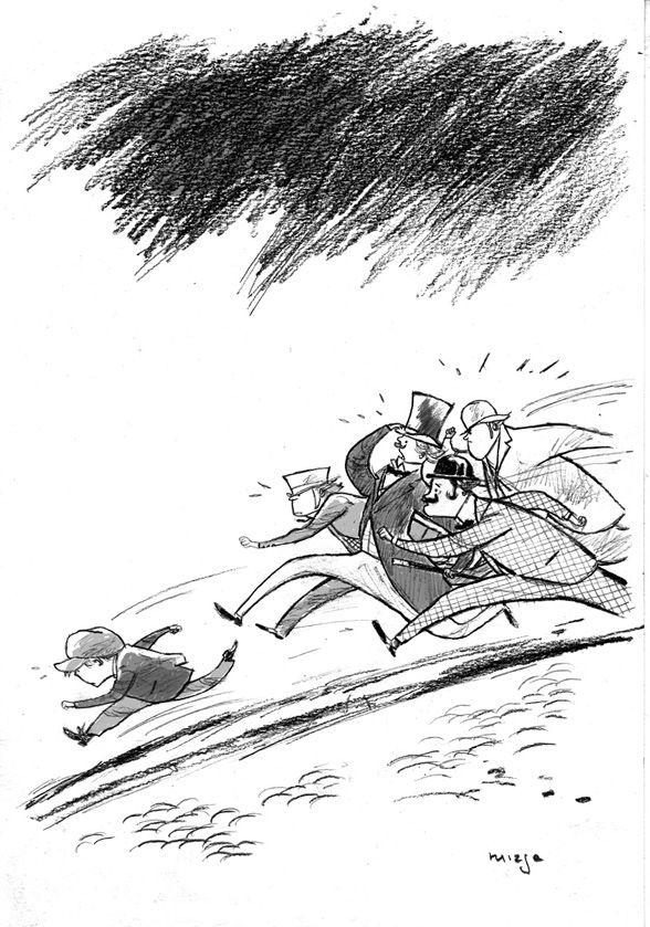 """El Aprendiz de Brujo y los Invisibles.""  illustration  Author: Jordi Sierra i Fabra  Illustrator: Francisco Ruizge"
