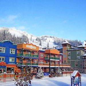 Lots of colourful accommodation choices at Silver Star Mountain Resort, just 20 minutes from Vernon BC!