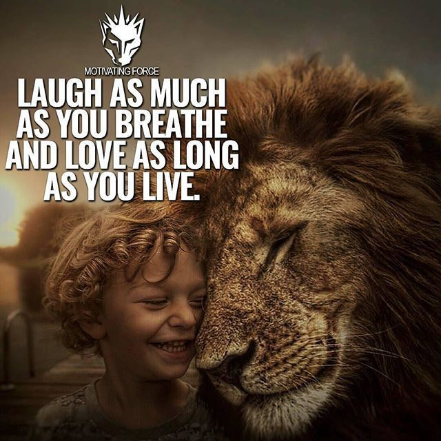 """""""@motivating.force: """"Laughter and love both bring about positive changes in your mind and mood, relieving the stress that life can bring and keeping you happier and healthier in the long run. Join the Wolfpack ➡ @motivating.force #MotivatingForce…"""