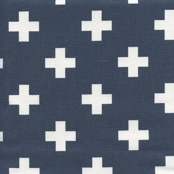 Swiss Cross Premier Navy Cotton Contemporary Drapery Fabric by Premier Prints - 56607 | BuyFabrics.com