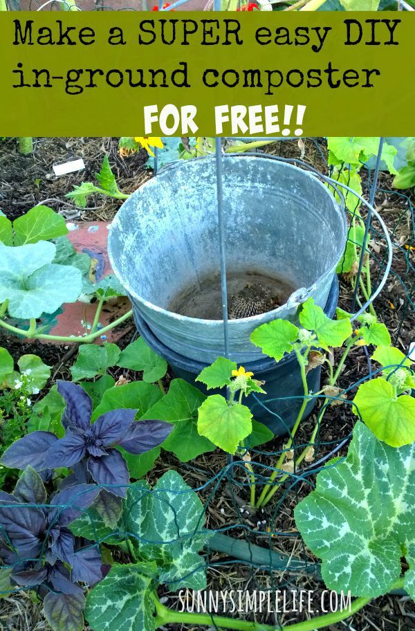 How To Make An Inground Composter For Your Garden for FREE! DIY compost bin. Small scale gardening.