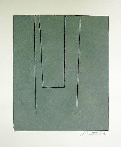 Robert Motherwell, Slate Gray Pintura, 1975