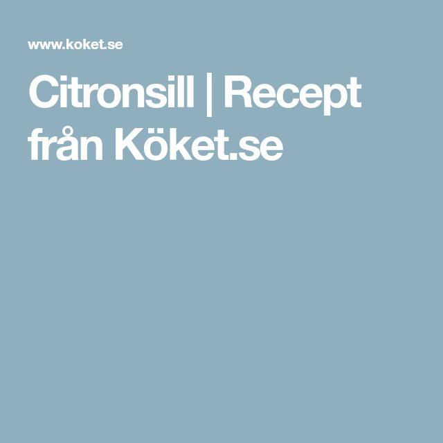 Citronsill   Recept från Köket.se