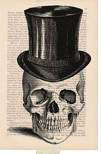 Print spooky images onto old book pages.   12 Simple Ways To Throw A Classy Halloween Party