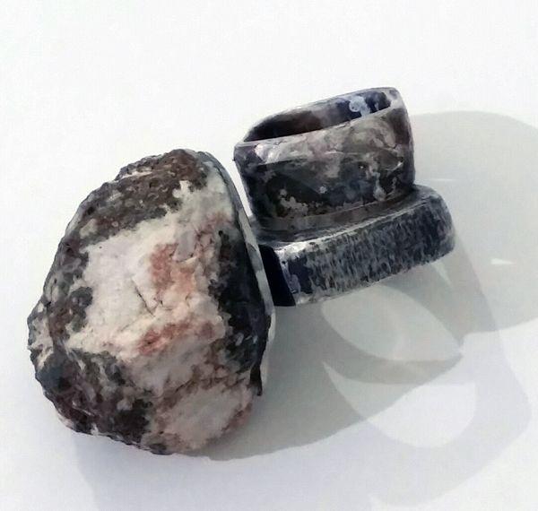 rings sterling silver, stone from Baberton, mpumalanga marina louw