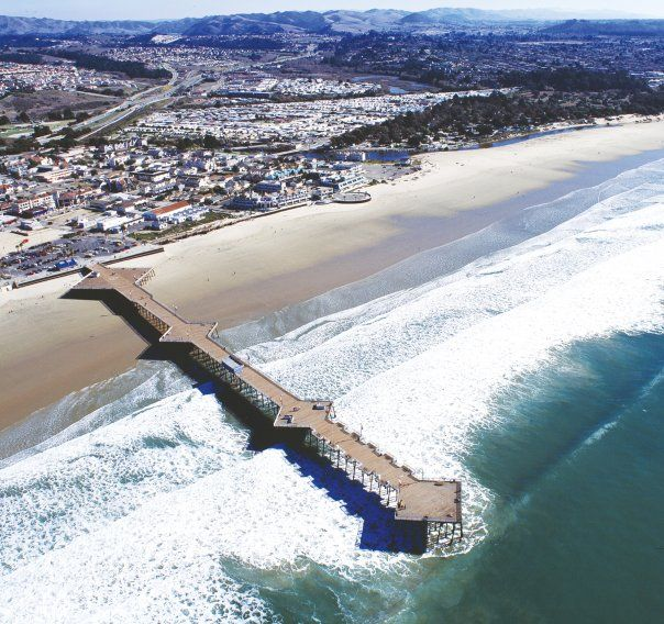 The pier at Pismo Beach, California. I've always wanted to walk out to the ocean on a giant pier, and in less than 2 weeks I will!