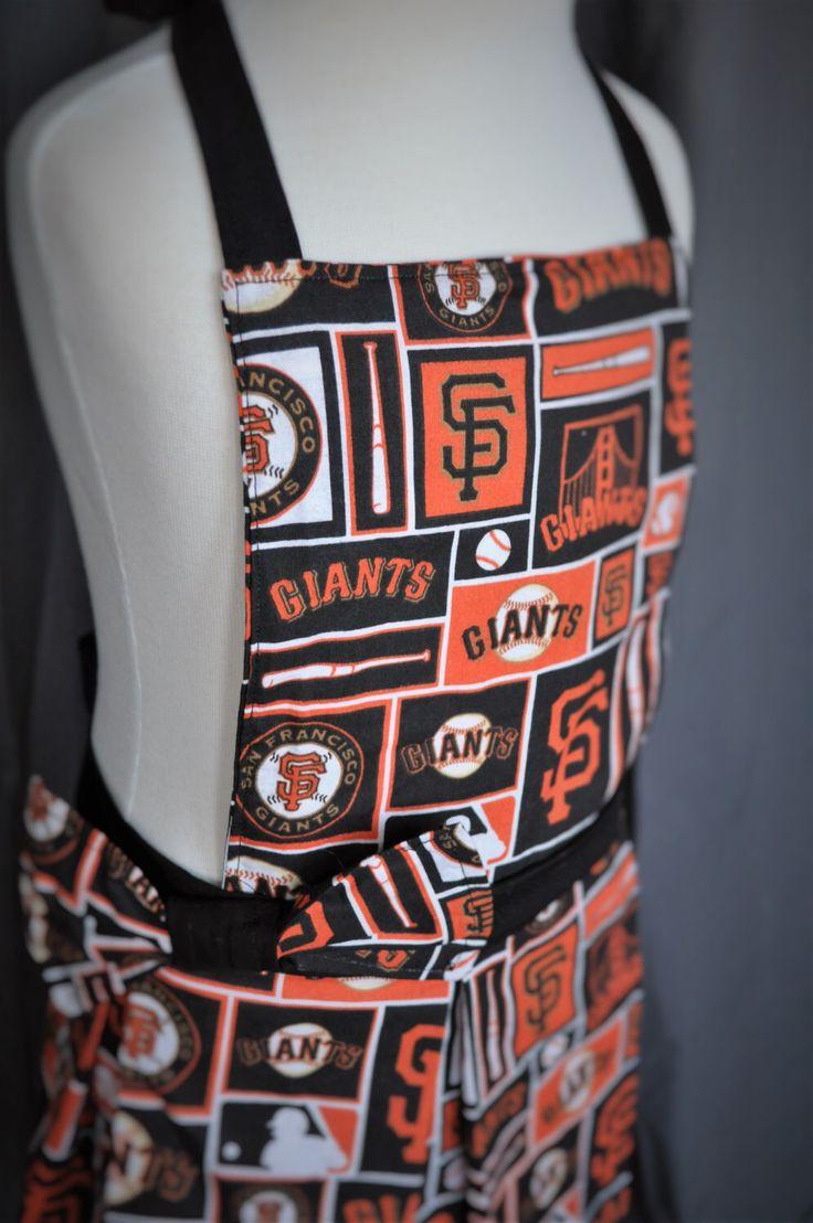 Kids apron // giants apron // girls apron // SF giants // childrens apron // San Francisco Giants // baseball //fan gear by MartinelliSweets on Etsy https://www.etsy.com/listing/491028982/kids-apron-giants-apron-girls-apron-sf