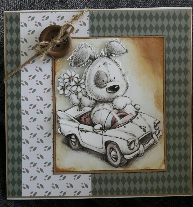 Cute card using Hunkydory's Little book of smudge and mitten and Tonic woodland walk papers