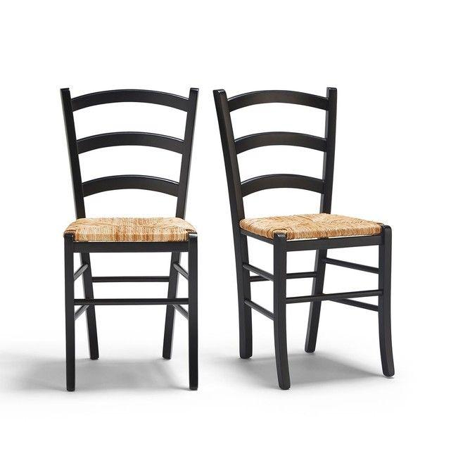 Lot De 2 Chaises Paysannes Perrine Relooking Meuble Mobilier De Salon Chaise