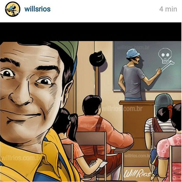 Selfie do Godines Autor: Will Rios https://www.facebook.com/willriosilustracoes…