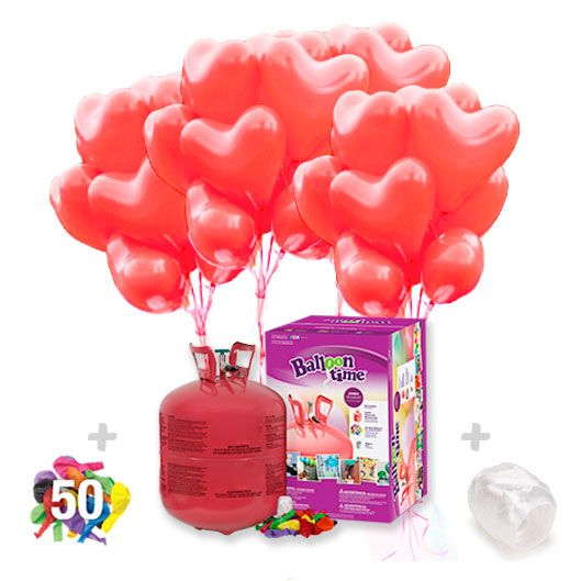 PACK GLOBOS CORAZON (+ botella de helio) !  http://globosdehelio.eu/producto/botella-helio-grande-con-40-globos-corazon/
