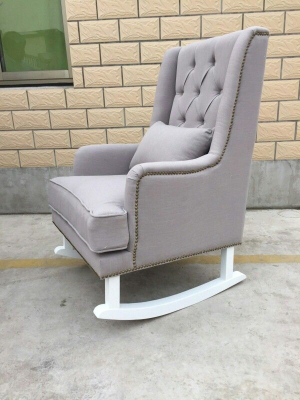 Linen Tufted Rocking Chair  Perfect for your baby nursery