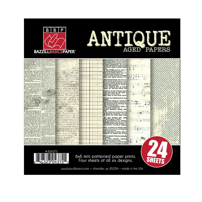 Bazzill - Heritage Collection - 6 x 6 Antique Paper Assortment Pack at Scrapbook.com