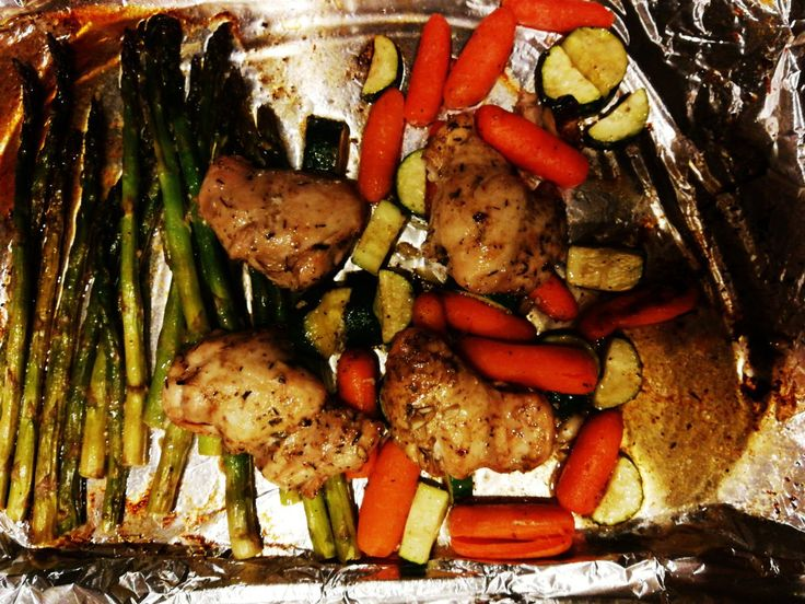 Easy and quick one Pan chicken  and veggies