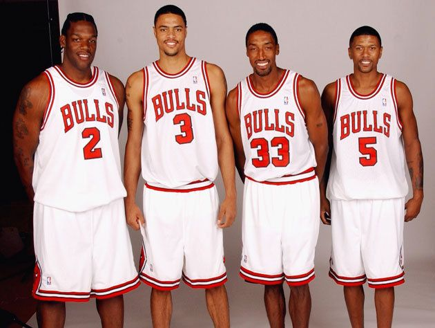 Eddy Curry, Tyson Chandler, Scottie Pippen & Jalen Rose