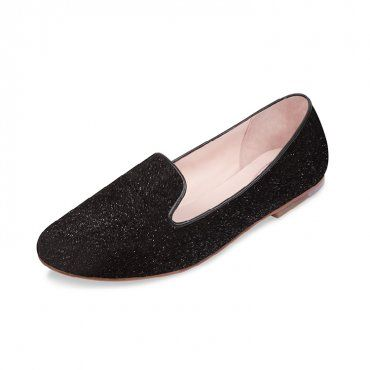 BLOCH DAPHNE LOAFER - Textured leather ballet loafer with matte leather piping