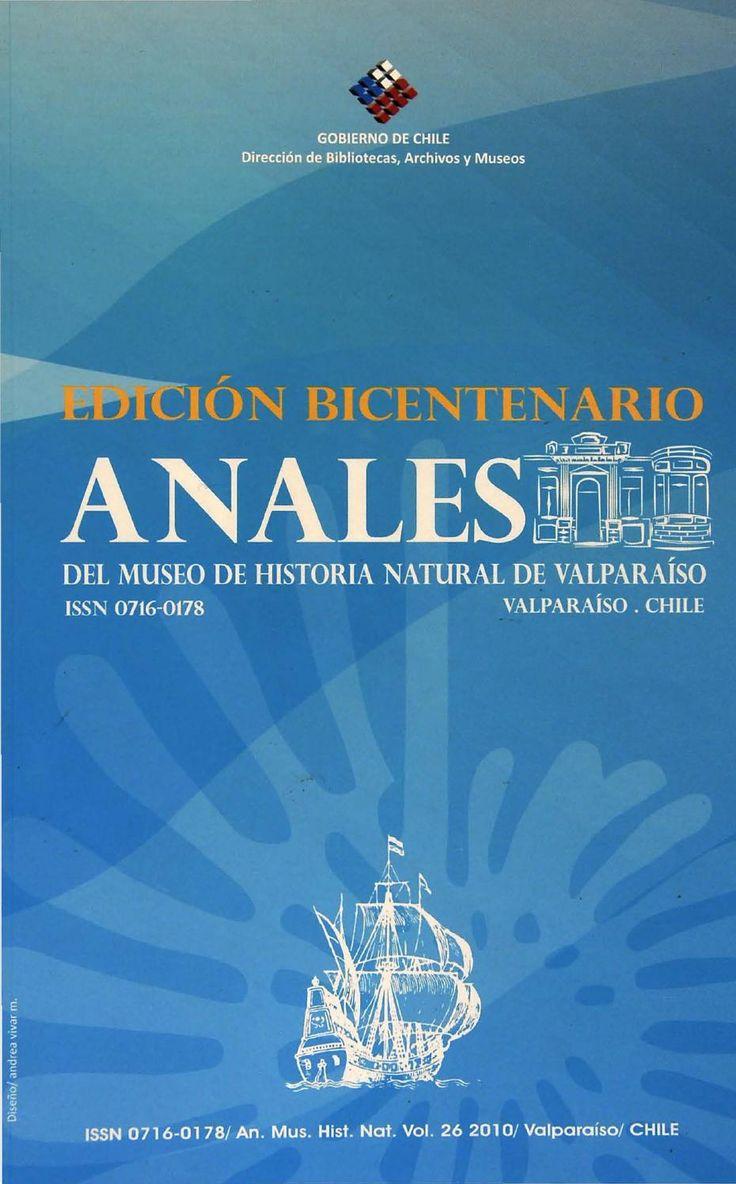 Anales del Museo Vol. 26; 2010.  Revista científica del Museo de Historia Natural de Valparaíso - Edición Bicentenario
