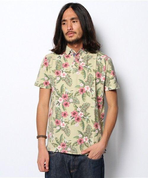 ANAP MEN(アナップメン)のANAP MEN アロハポロシャツ(ポロシャツ)|ベージュ