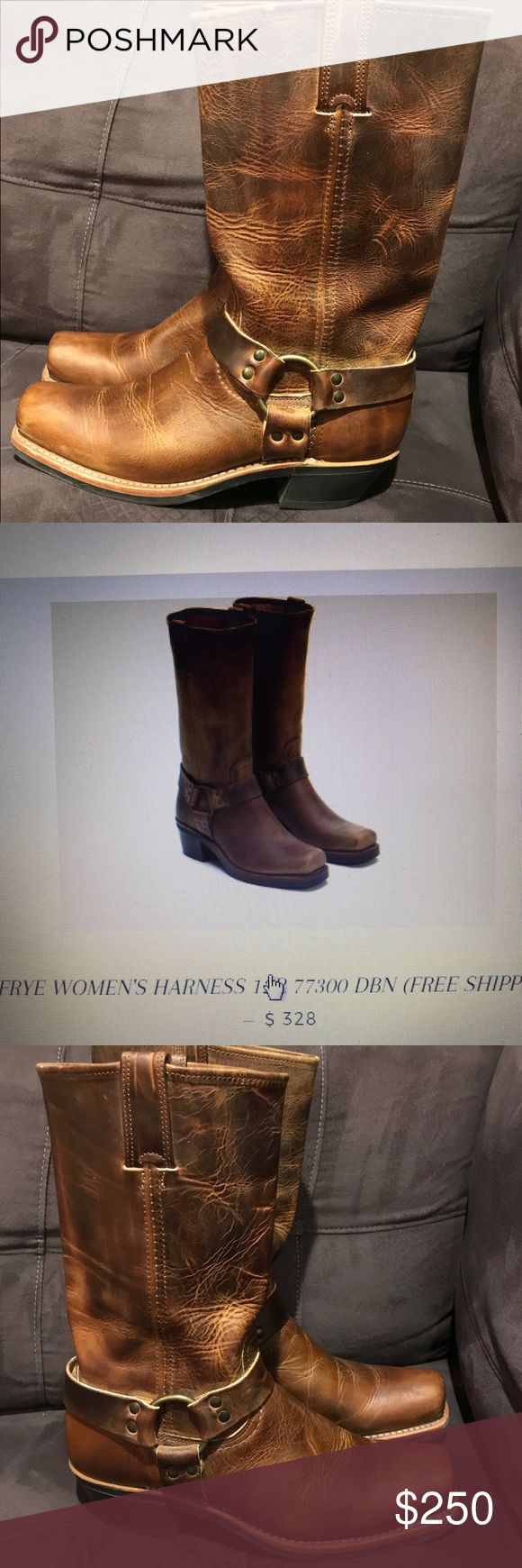 Frye Harness Boots - Excellent Condition- size 10 Frye Harness Boots only worn 3-4 times. Excellent condition. Size 10. Frye Shoes Combat & Moto Boots