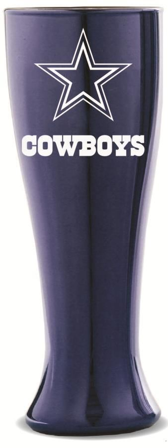 DALLAS COWBOYS 16oz GLASS GLACIER PILSNER FROM DUCKHOUSE SPORTS #DuckhouseSports #DallasCowboys