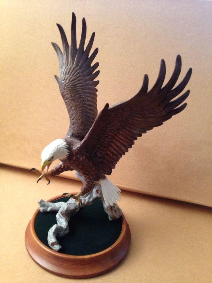 Franklin Mint American Majesty Porcelain Bald Eagle Statue ...