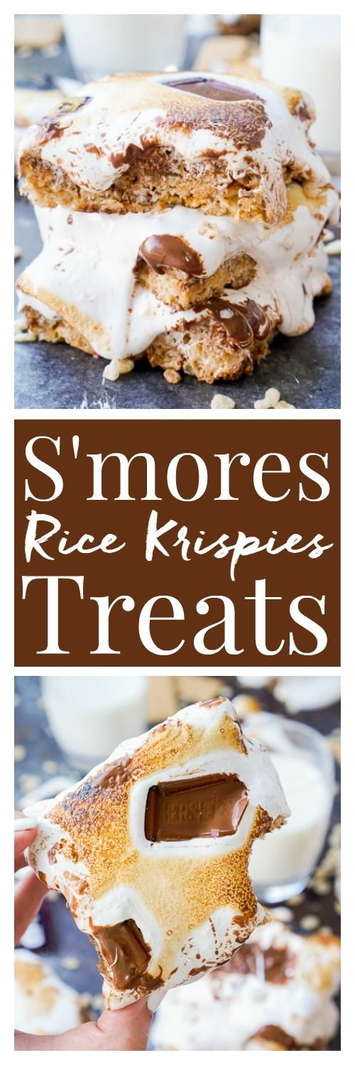 These S'mores Rice Krispies Treats are a fun way to enjoy the toasty summer dessert indoors or outdoors and all year long!