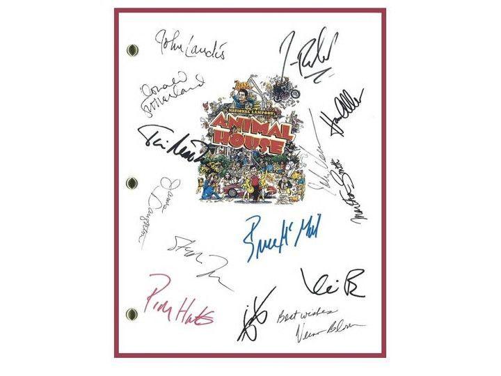 Animal House Movie Script Signed Autographed John Landis, John Belushi, Tim Matheson, John Vernon, Verna Bloom, Thomas Hulce