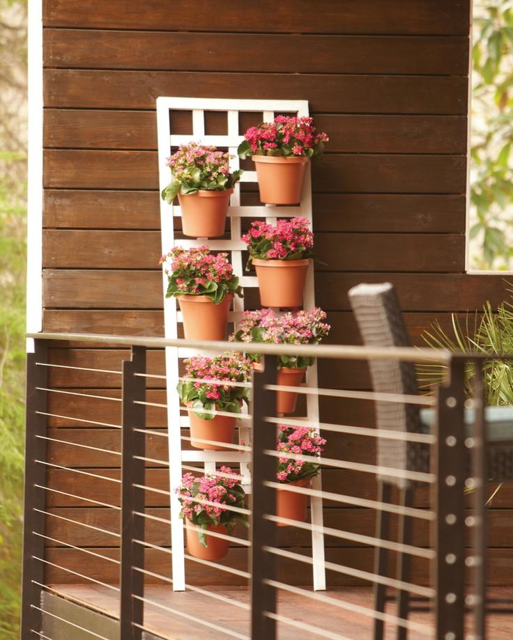 16 Creative Diy Vertical Garden Ideas For Small Gardens: Vertical Garden 24″ X 72″ Trellis Eight 8″ Resin Terra