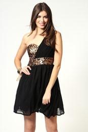 one shoulder dress, black works always