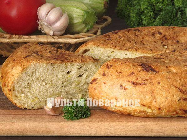 Пшеничный хлеб с кабачками в мультиваpке